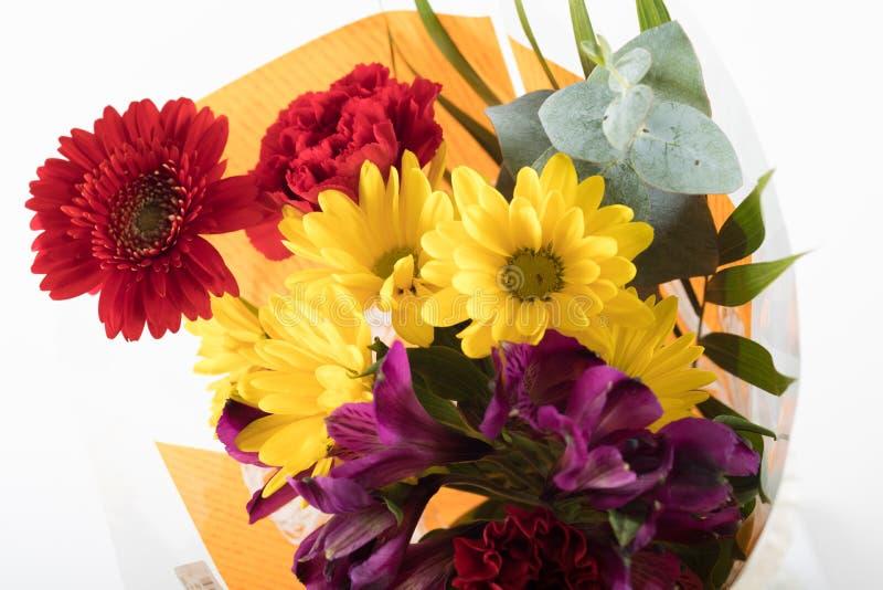 Blumenstrauß der Blume gekauft vom Supermarkt stockfoto