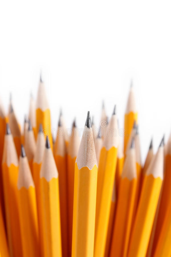 Blumenstrauß der geschärften Bleistifte lizenzfreies stockfoto