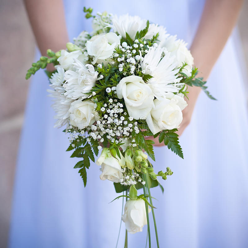 Blumenstrauß der Hochzeitsblumen stockfotografie