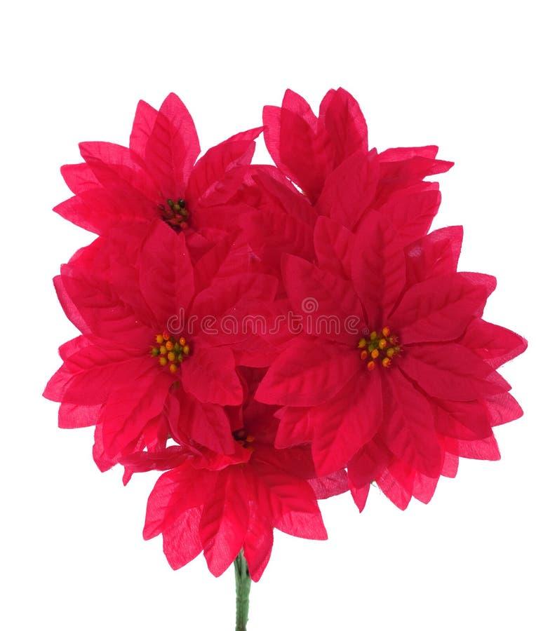 Blumenstrauß der künstlichen roten Blumen stockfotografie