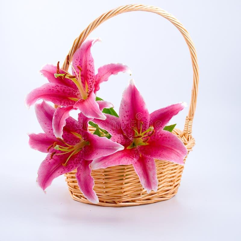 Blumenstrauß der Lilien lizenzfreie stockfotografie