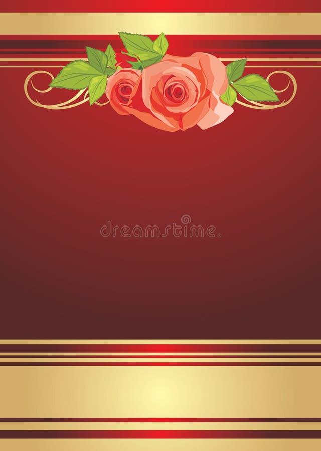 Blumenstrauß der Rosen. Festlicher Hintergrund für die Verpackung lizenzfreie abbildung