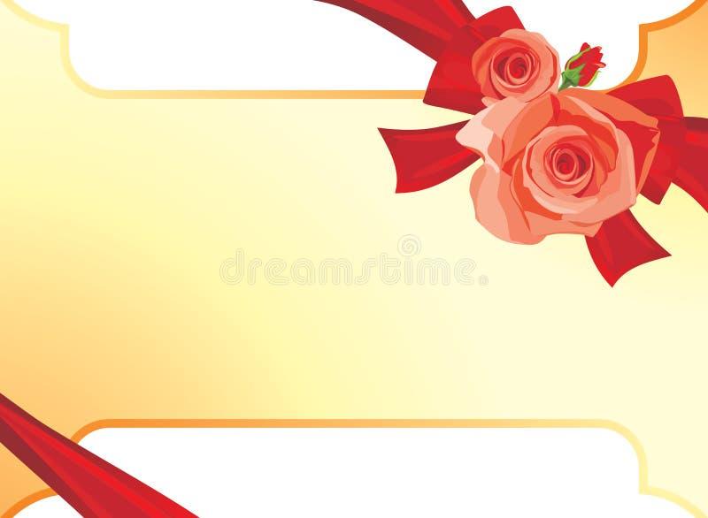 Blumenstrauß der Rosen. Hintergrund für festliche Karte vektor abbildung