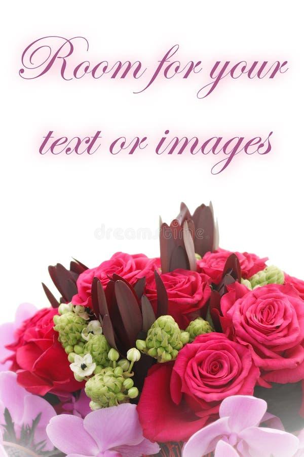Blumenstrauß der Rosen und der Orchideen lizenzfreies stockfoto