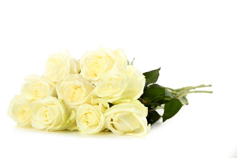 Blumenstrauß der weißen Rosen lizenzfreies stockfoto