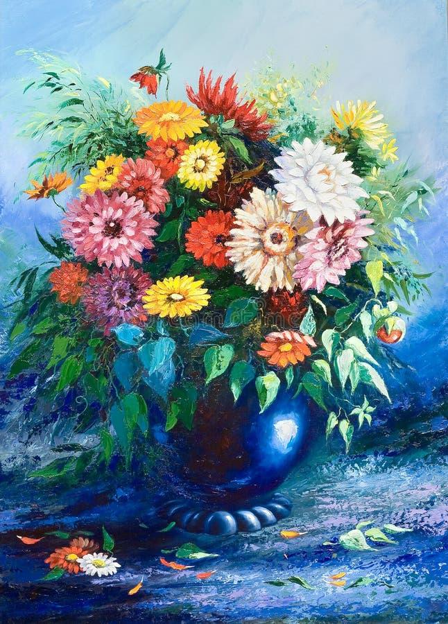 Blumenstrauß der wilden Blumen stock abbildung