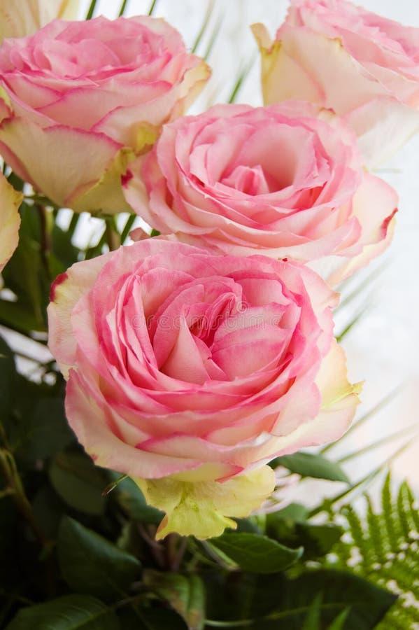 Blumenstrauß der zarten rosafarbenen Rosen lizenzfreie stockfotografie