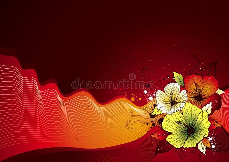 Blumenstrauß des Hibiscus, Vektor lizenzfreie abbildung