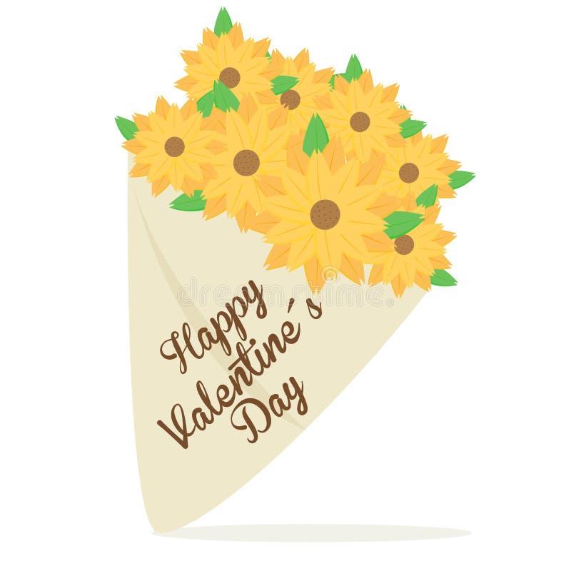 Blumenstrauß ValentineÂs Tagesvektor stockfoto
