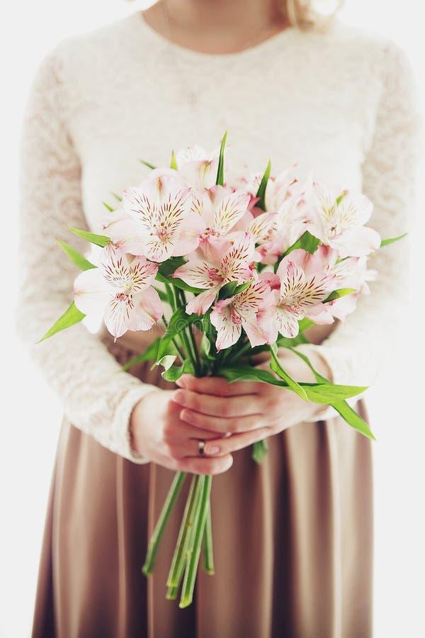 Blumenstrauß von Blumen stockbild