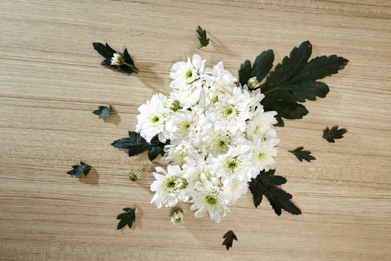 Blumenstrauß von Chrysanthemen stockfotos