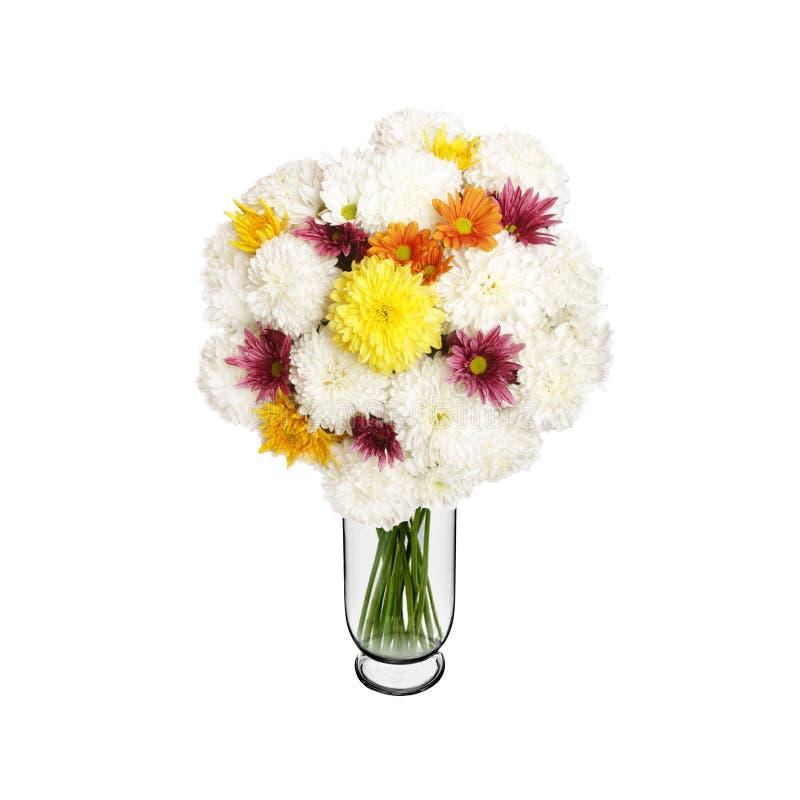 Blumenstrauß von weißen Astern im Vase lizenzfreies stockfoto