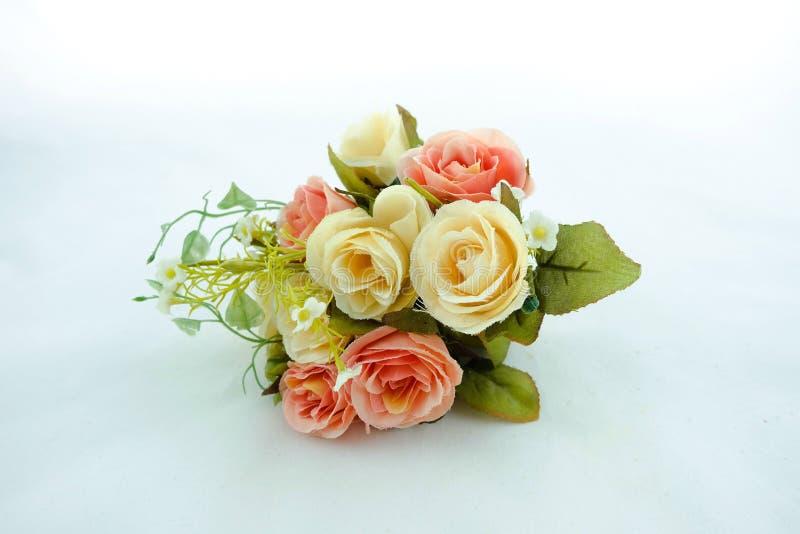 Blumenstrauß Weißer Hintergrund stockbild