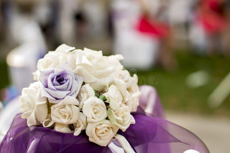 Blumenstraußrosen für die Heirat stockfoto