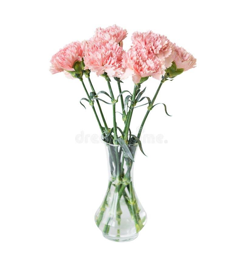 Blumenstrau? von rosa Gartennelkenblumen stockfotos