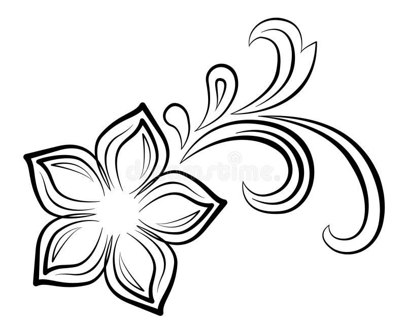 Blumenstrudel vektor abbildung