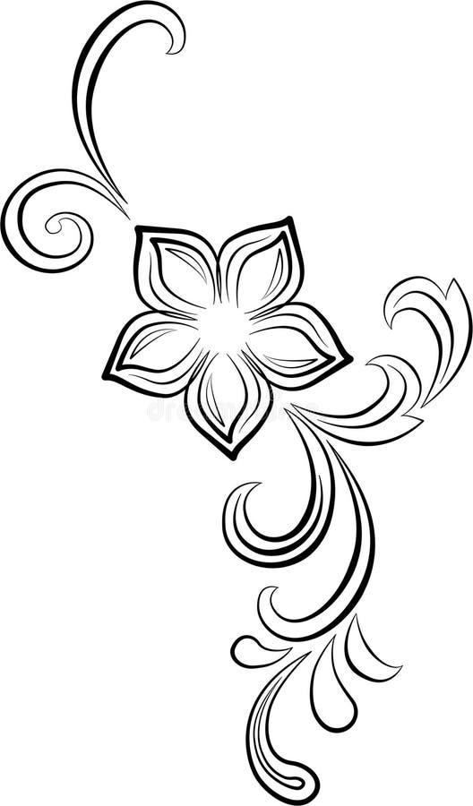 Blumenstrudel stock abbildung