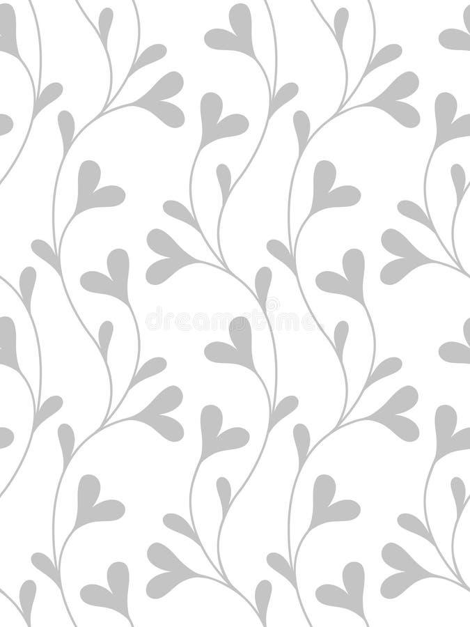 Blumentapete (nahtlos) lizenzfreie abbildung
