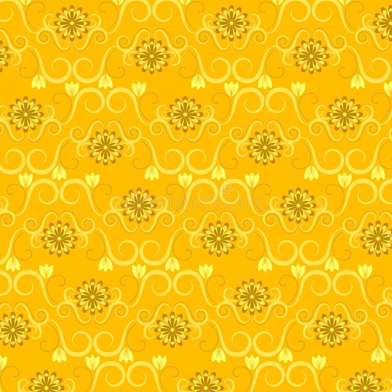 Blumentapeten-Muster vektor abbildung