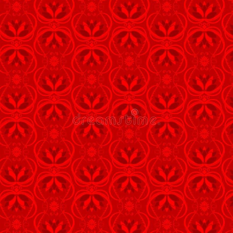 Blumentapeten-Muster lizenzfreie abbildung