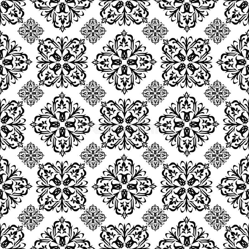 Download Blumentapetenschwarzes vektor abbildung. Illustration von papier - 12203569