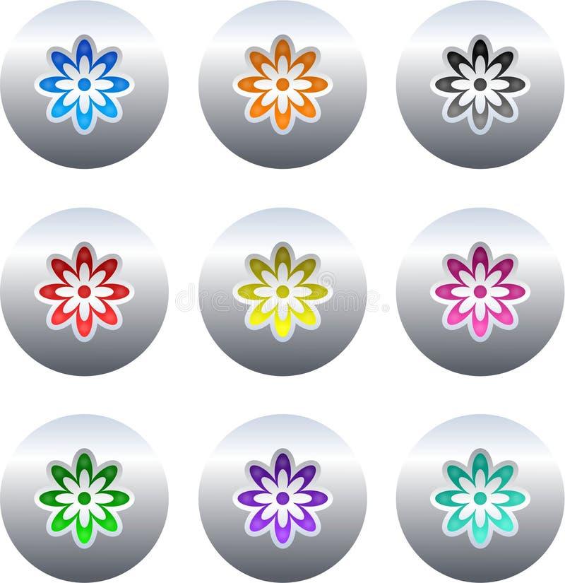 Blumentasten vektor abbildung