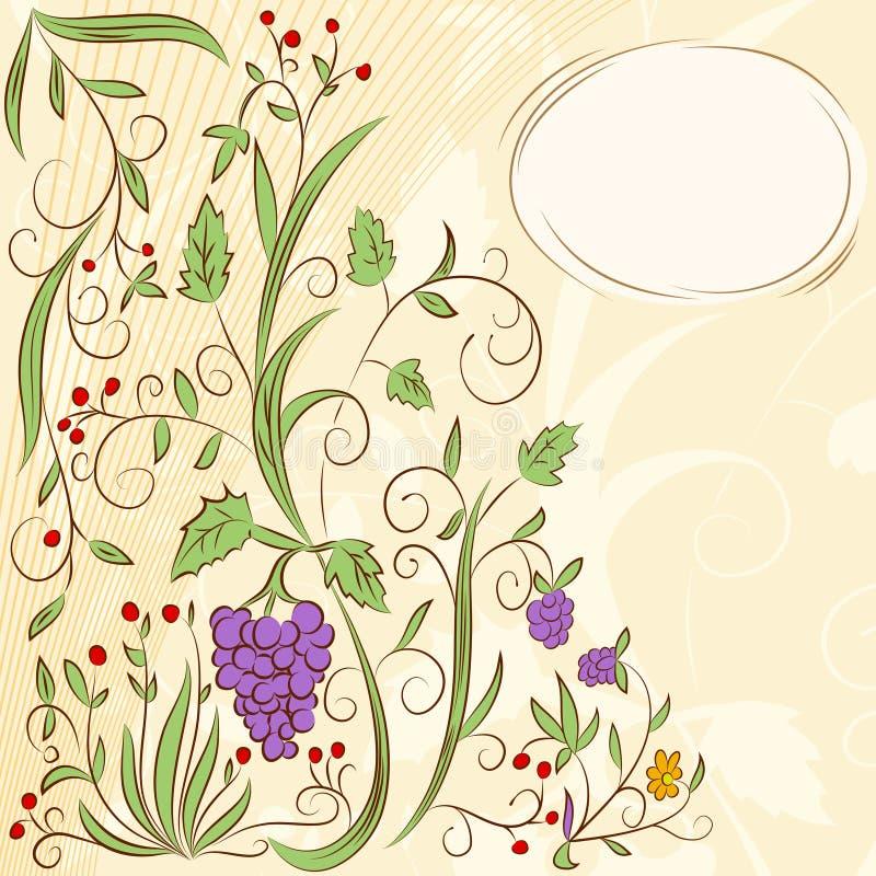 Blumentraubenauszugshintergrund vektor abbildung