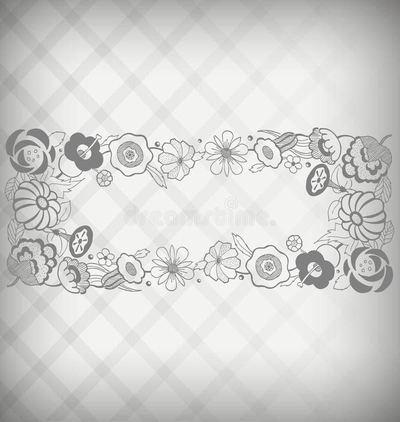 Blumentypenschild lizenzfreie abbildung
