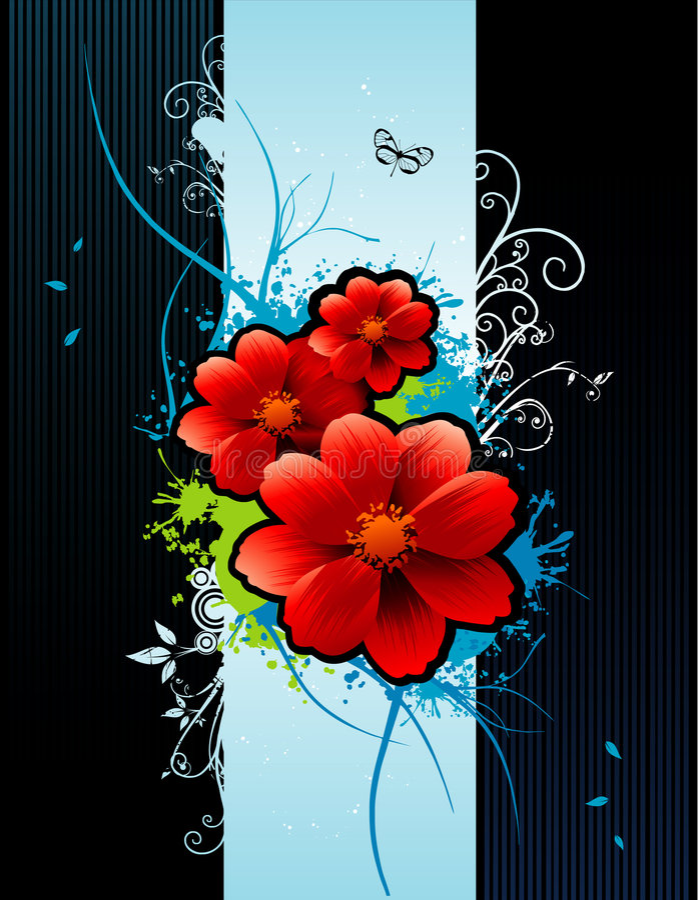 Blumenvektoraufbau vektor abbildung