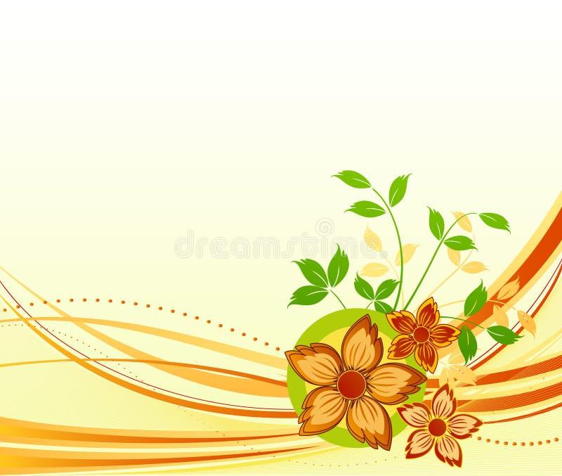 Blumenvektorauslegung lizenzfreie abbildung