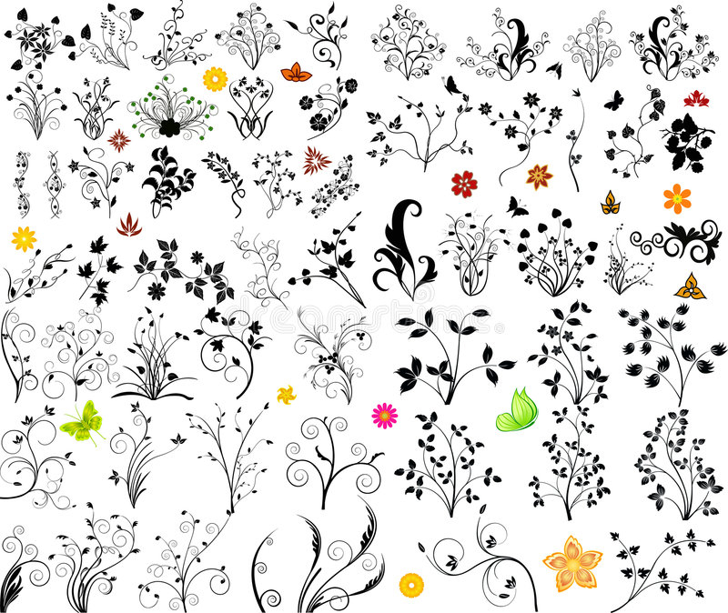 Blumenvektorelement stock abbildung