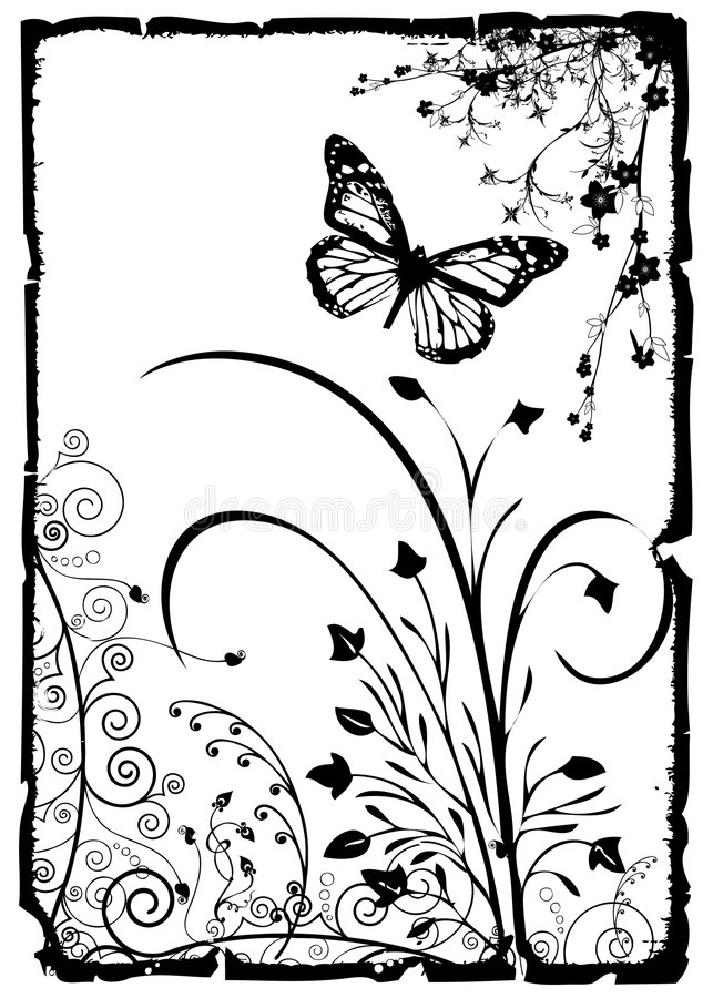 Blumenvektorfeld stock abbildung