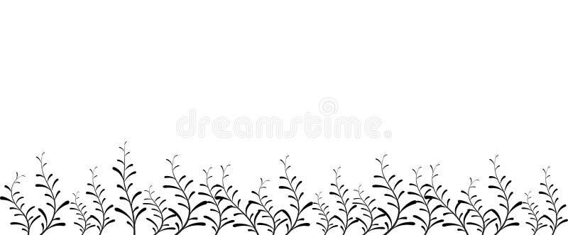 Blumenvektorhintergrund oder abstraktes Feld stock abbildung