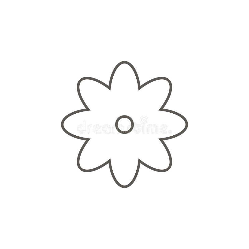 Blumenvektorikone Einfache Elementillustration von der Karte und vom Navigationskonzept Blumenvektorikone Immobilienkonzeptvektor lizenzfreie abbildung