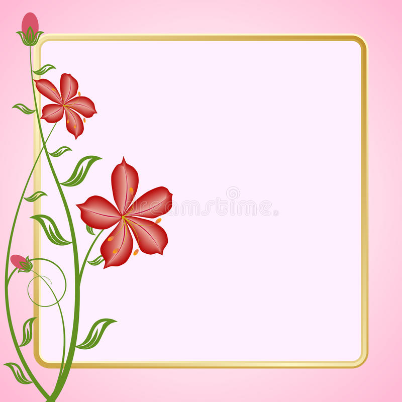 Blumenvektorkarte stock abbildung