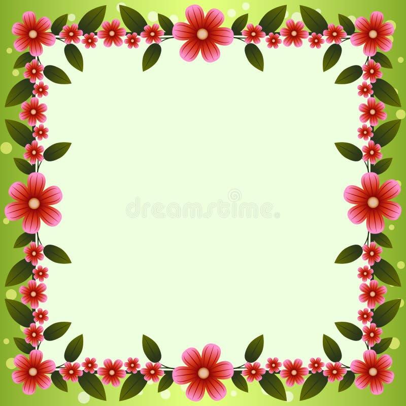 Blumenvektorkarte vektor abbildung