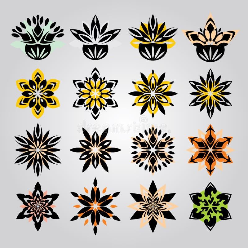 Blumenverzierung lizenzfreie abbildung
