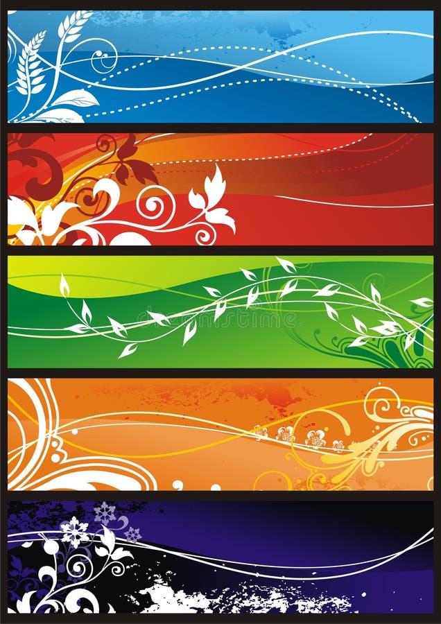 Blumenverzierung für Hintergrund stock abbildung