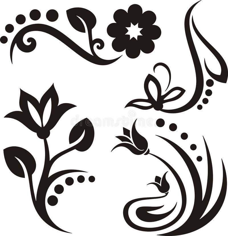 Blumenverzierungen stock abbildung