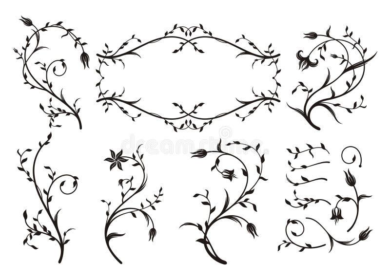Blumenverzierungen lizenzfreie abbildung