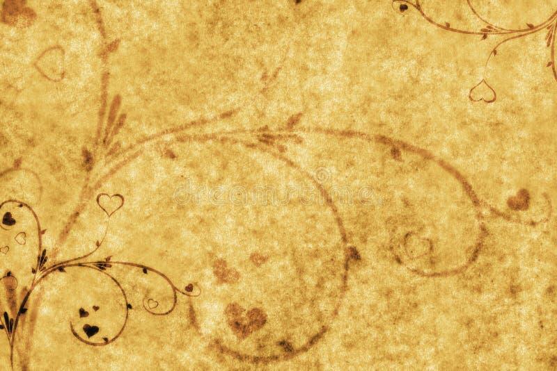 Blumenverzierungen auf Papier vektor abbildung