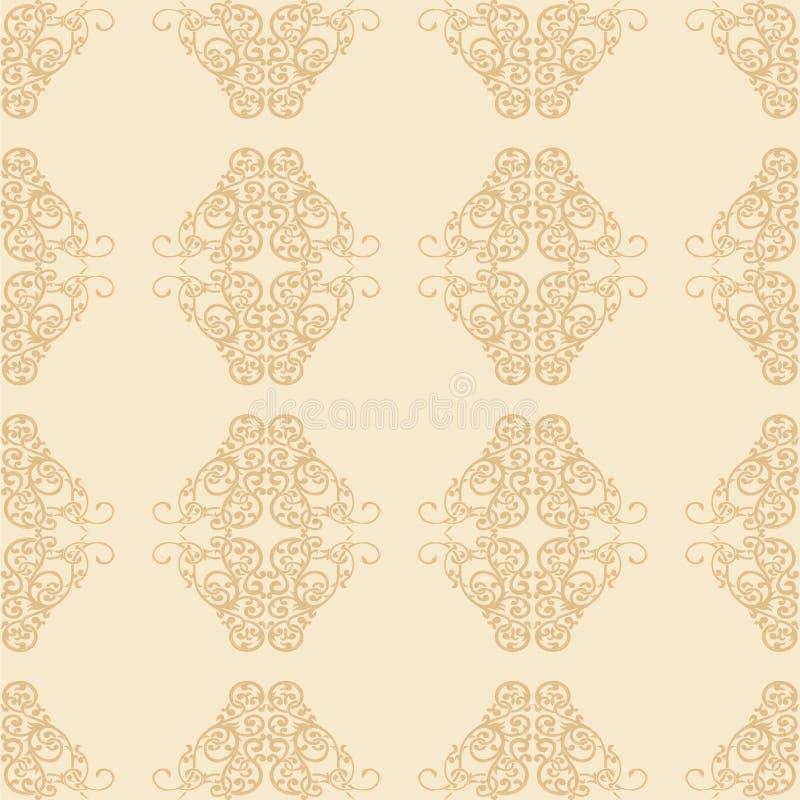 Blumenverzierungs-nahtloses Muster vektor abbildung