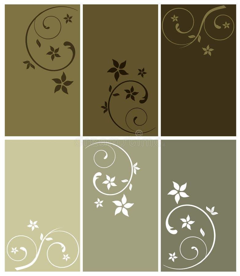 BlumenVisitenkarten lizenzfreie abbildung