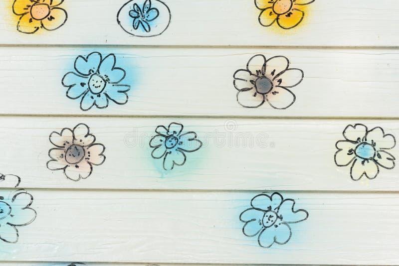 Blumenwand stockbild