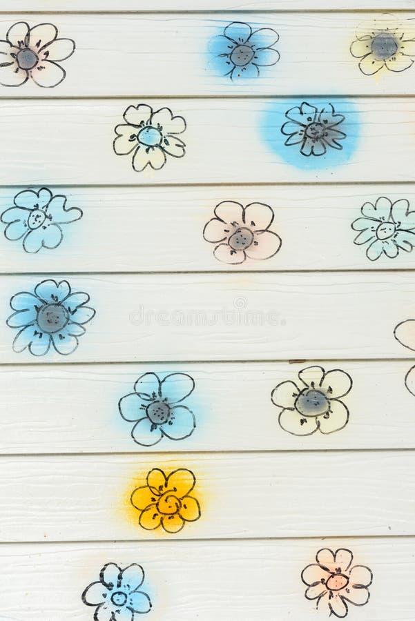 Blumenwand lizenzfreies stockbild