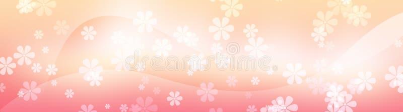 Blumenweb Vorsatz, Blumenhintergrund lizenzfreie abbildung