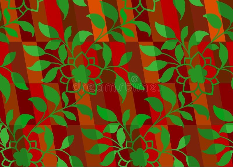 Blumenweihnachtsmuster stock abbildung