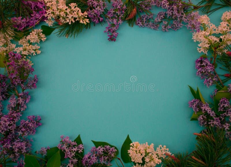 Blumenwerbungsrahmen für Tagebücher und Fahnen stockbild
