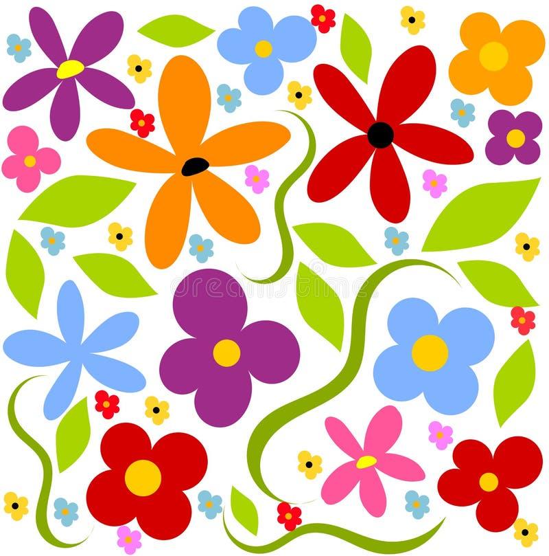 Blumenwiesenhintergrund lizenzfreie abbildung