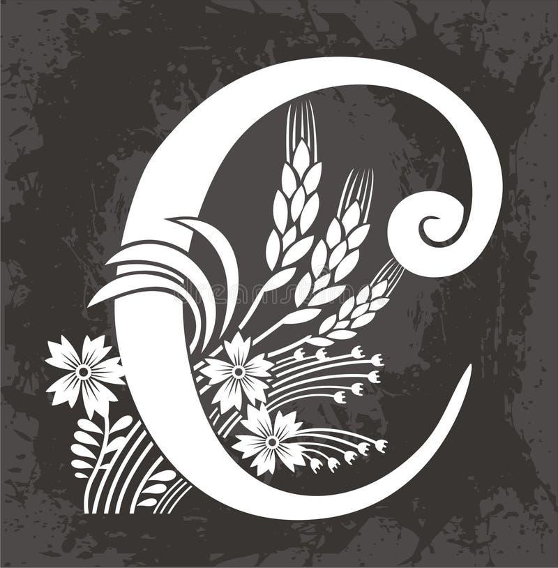 Blumenzeichen C stock abbildung